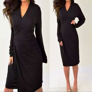 The Limited Black Wrap Dress XL Extra Large